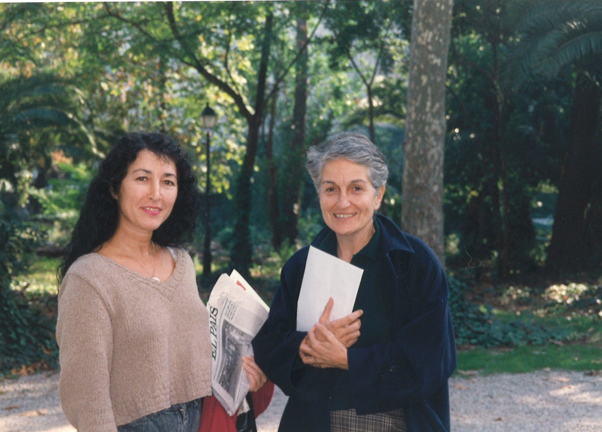 Con Lia Cigarini. Barcelona, Brusi 61. 1994